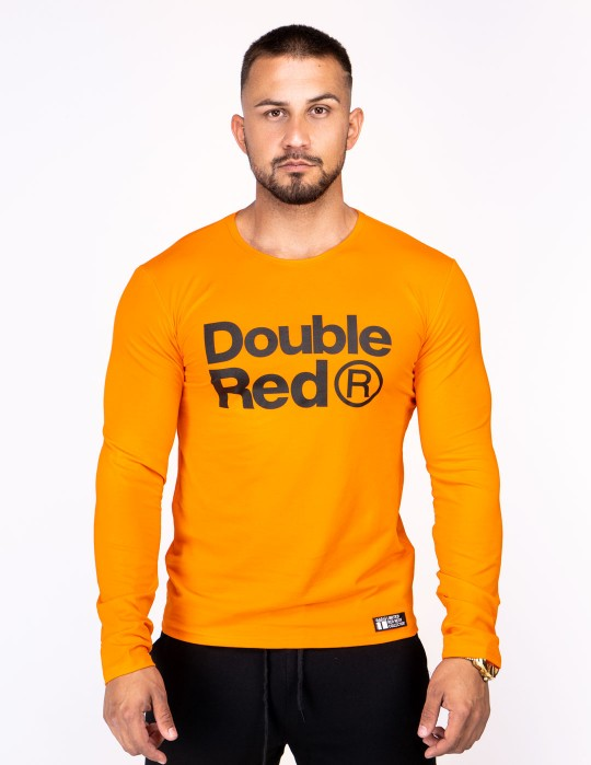 Red Neon Long Sleeve T-Shirt Orange