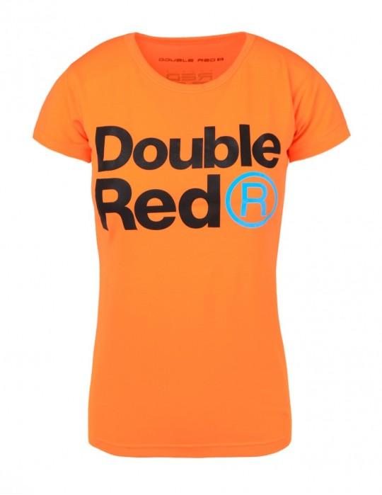 DOUBLE RED Trademark NEON T-shirt Orange
