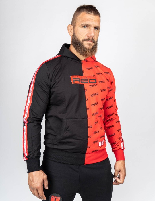 Hoodie DOUBLE FACE Black/Red