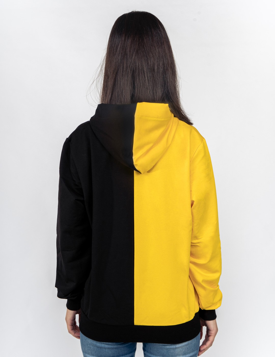 Hoodie DOUBLE FACE Kung-Fu Master Yellow/Black