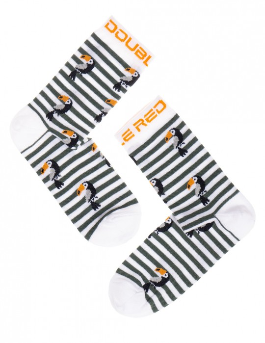 DOUBLE FUN Socks Tucan Stripes