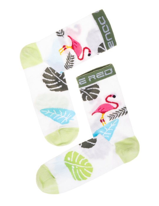 DOUBLE FUN Socks Art Deco Flamengo White