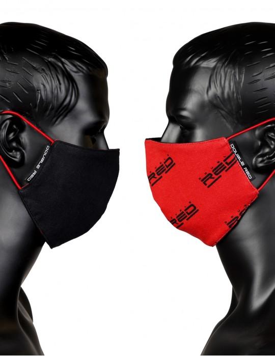 Mascherina sportiva DOUBLE FACE Red/Black