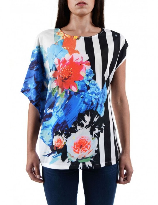 SELEPCENY PRINTED JERSEY TOP