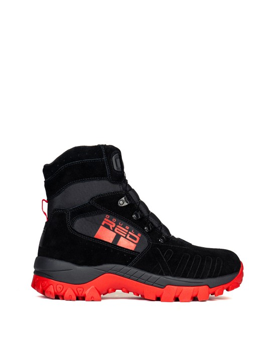 X WIRE BLACK&RED Boots