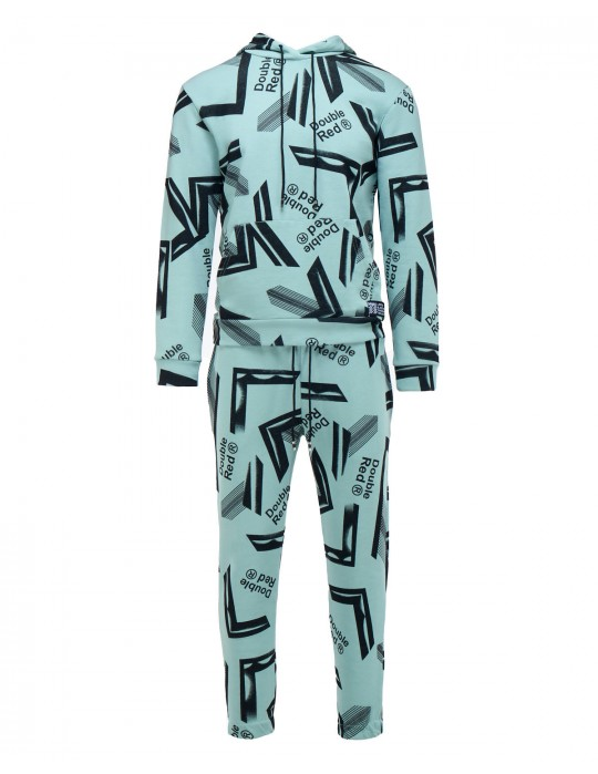 GEOMETRIX Mint Green Tracksuit