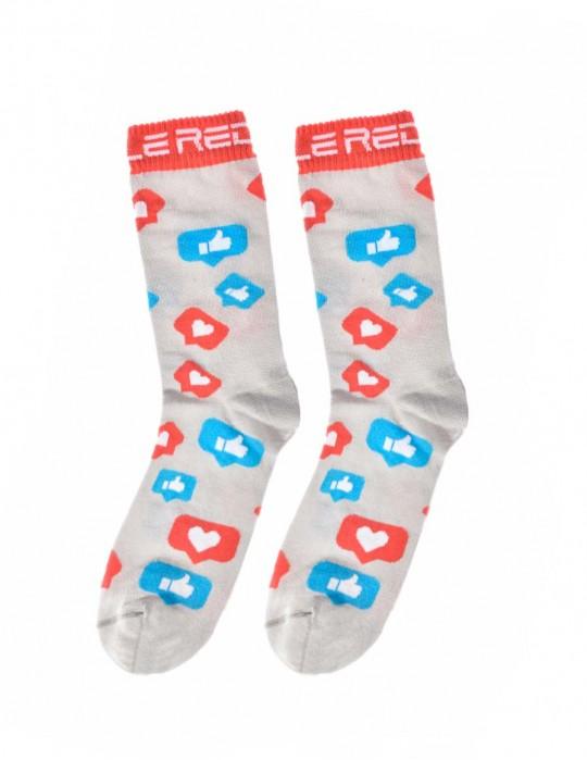 DOUBLE FUN Socks Social Likes