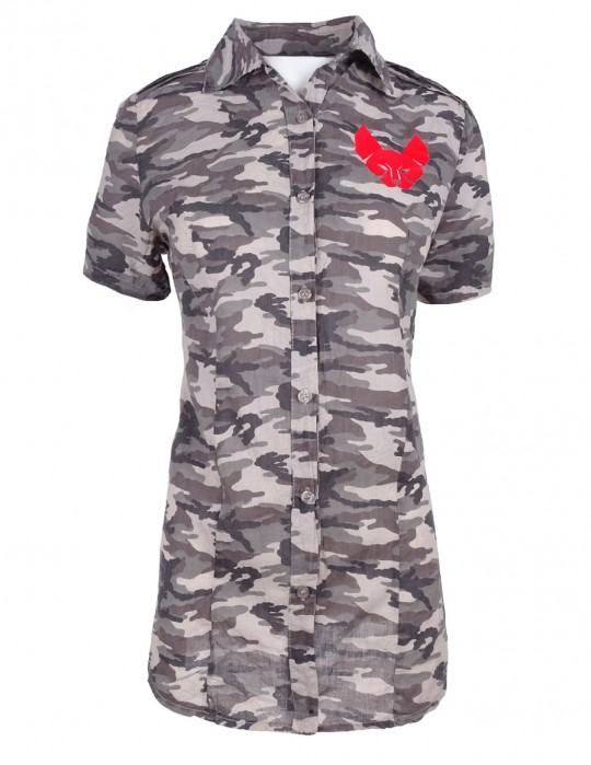 Limited DR W Red Hellcat Camo Shirt