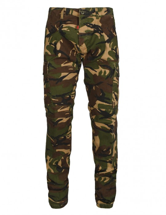 Cargo Trouser Camouflage Green