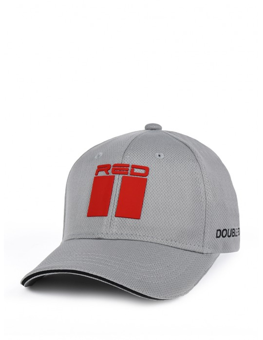 DOUBLE RED Cool Comfort Technology Golf 3D Cap Grey