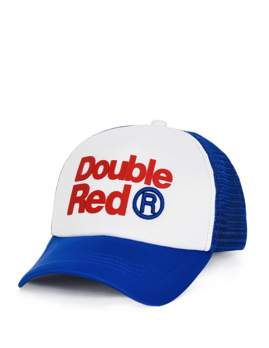 DOUBLE RED Trademark Trucker Cap Blue/White