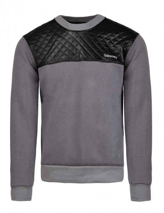 SELEPCENY Cotton Sweatshirt Grey