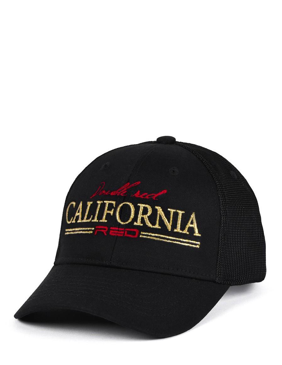 CALIFORNIA RED Cap Black