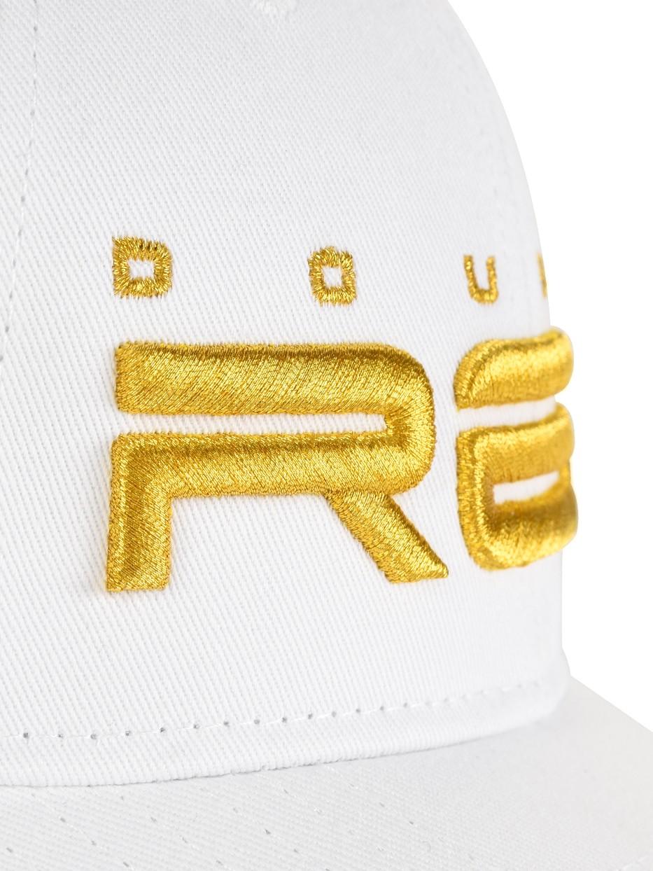 All Logo Metals Cap Goldforever White