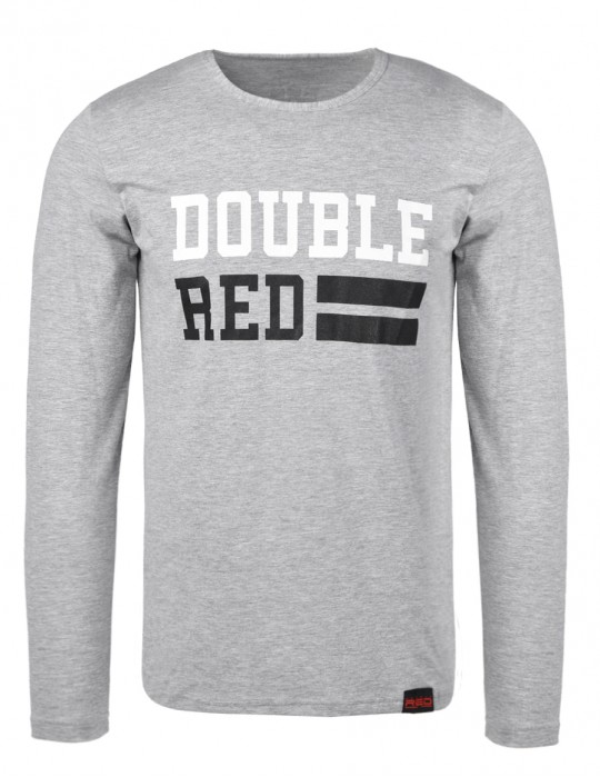 UNIVERSITY OF RED long sleeve Grey T-shirt
