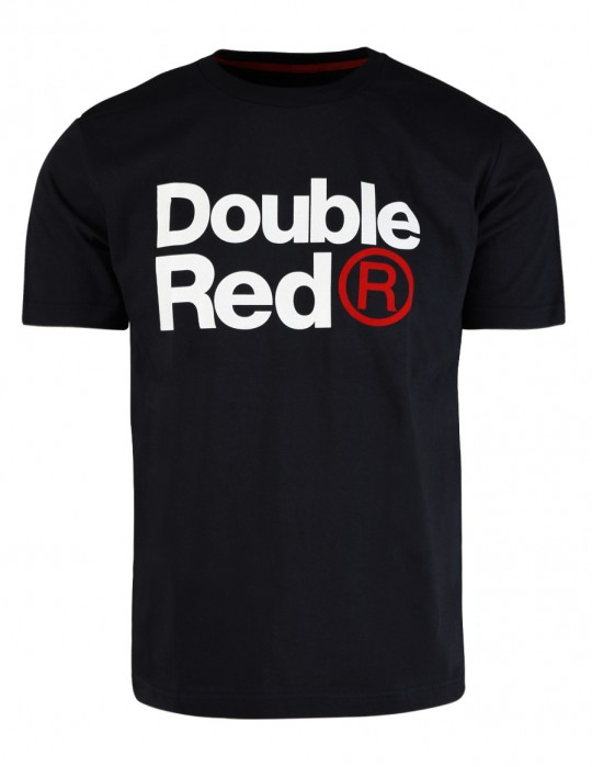 DOUBLE RED Trademark T-shirt Dark Black SLIM FIT