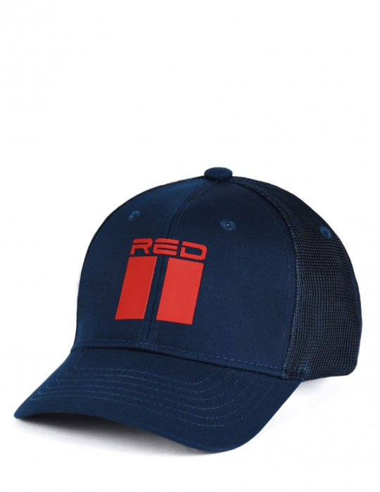 DOUBLE RED 3D Dark Blue Cap