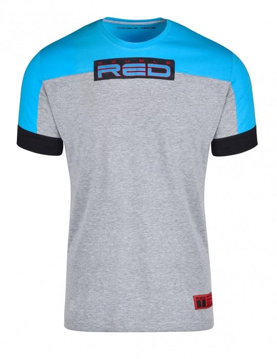 T-shirt GLORIOUS Blue/Light Grey