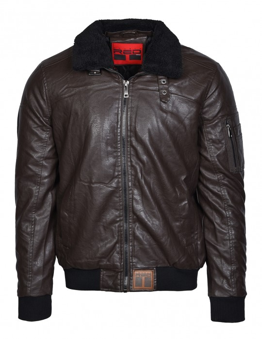 WRAITH Leather Jacket Brown