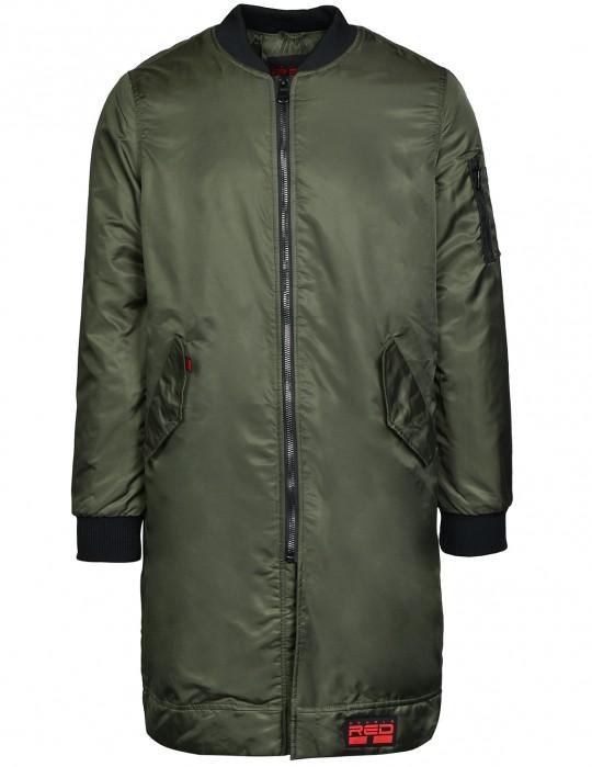 THE PUNISHER Long Size Bomber Jacket Olive