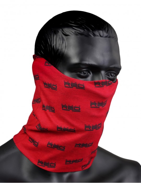 RED SQUAD Snood Full Logo Red